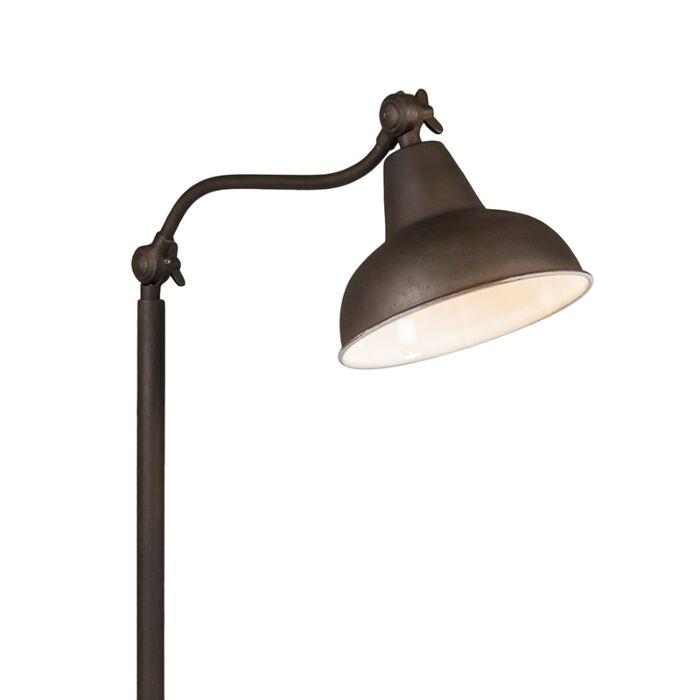 Vloerlamp-Goa-roestkleur