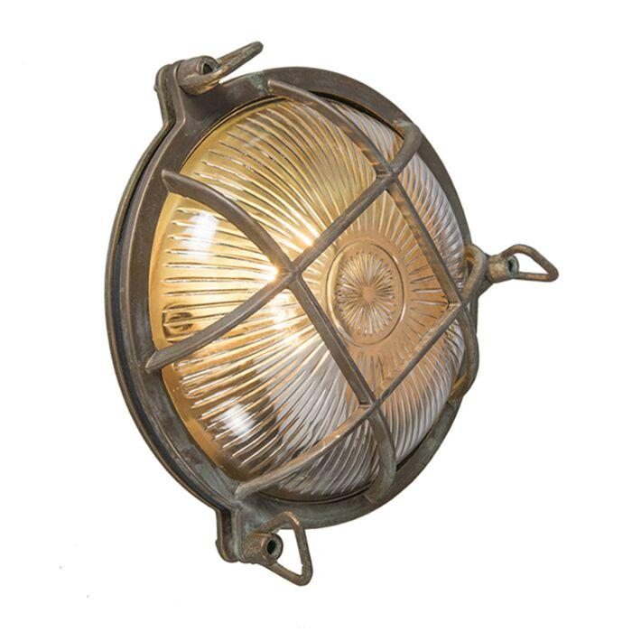 Retro-wandlamp-bruin-IP44---Nautica-rond