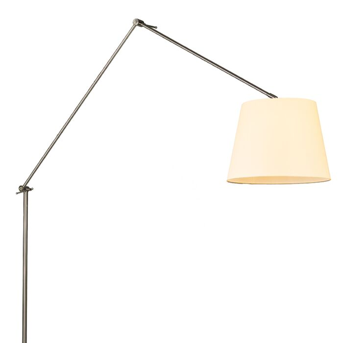 Vloerlamp-Editor-staal-met-kap-35cm-creme