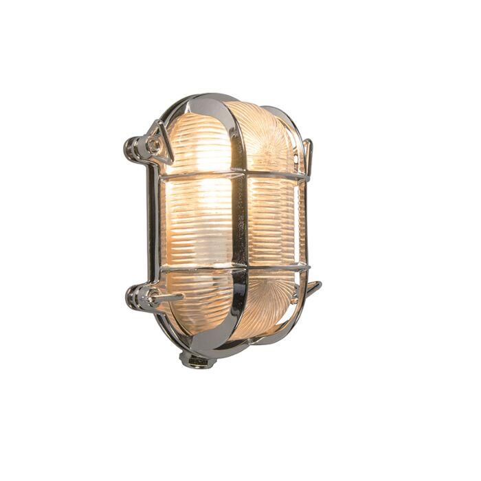 Wand--en-plafondlamp-chroom-18/14-cm-IP44---Nautica-2-ovaal