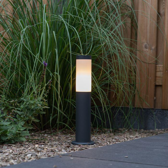 Buitenlamp-paal-antraciet-45-cm-IP44---Rox