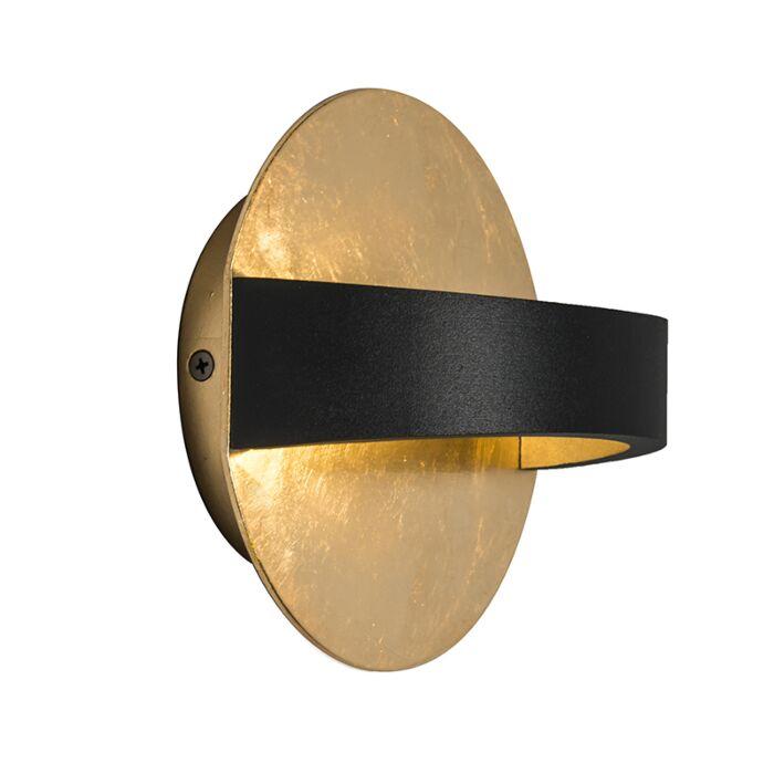 Wandlamp-Grip-zwart/goud