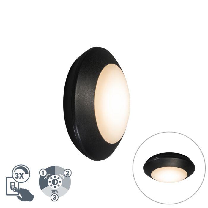 Moderne-plafondlamp-zwart-IP65---Bertina