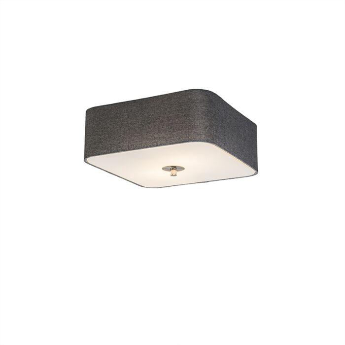 Plafondlamp-vierkant-grijs-30-cm---Drum-deluxe-Jute