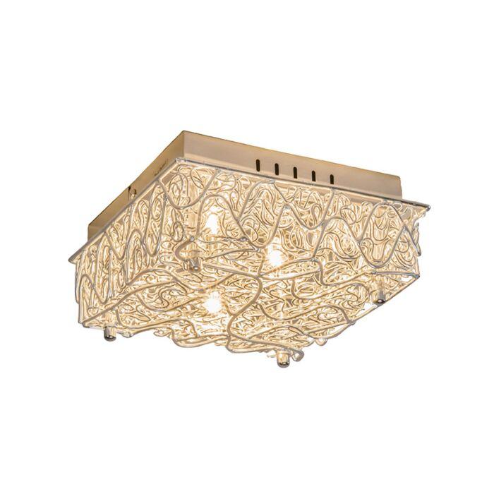 Wandlamp-Draht-staal