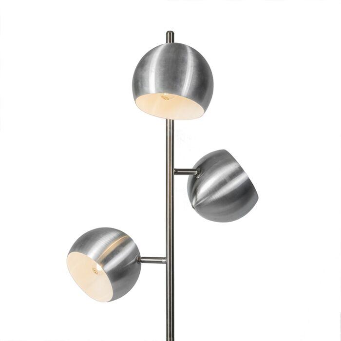 Vloerlamp-Orb-3-staal---licht-beschadigd