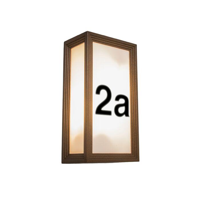 Buitenlamp-Tide-2V-met-huisnummer