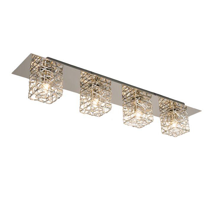 Wand/plafondlamp-Draht-4-chroom