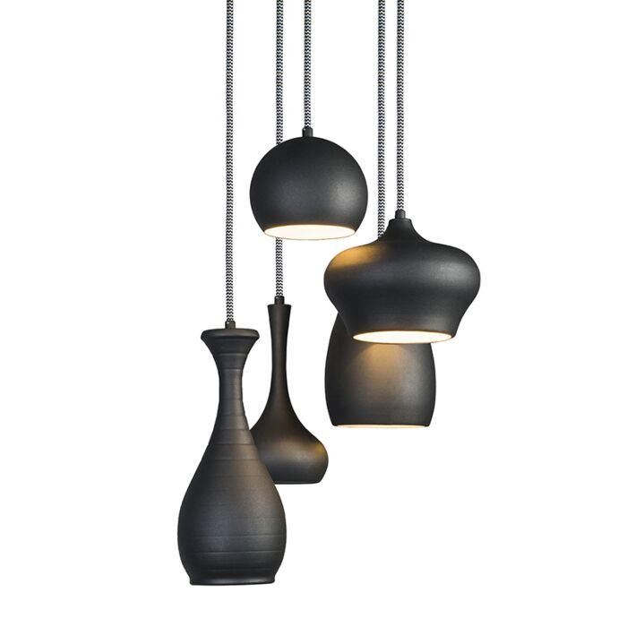 Hanglamp-Drops-5-zwart