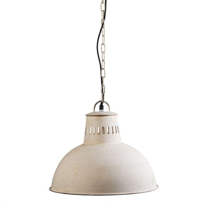 Hanglamp-Rustic-antiek-wit