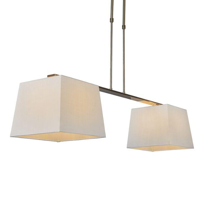 Hanglamp-Combi-Delux-2-kap-vierkant-30cm-wit