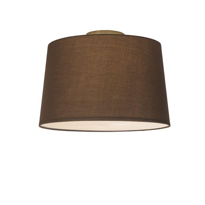 Plafonnière-Combi-40cm-bruin-met-blender