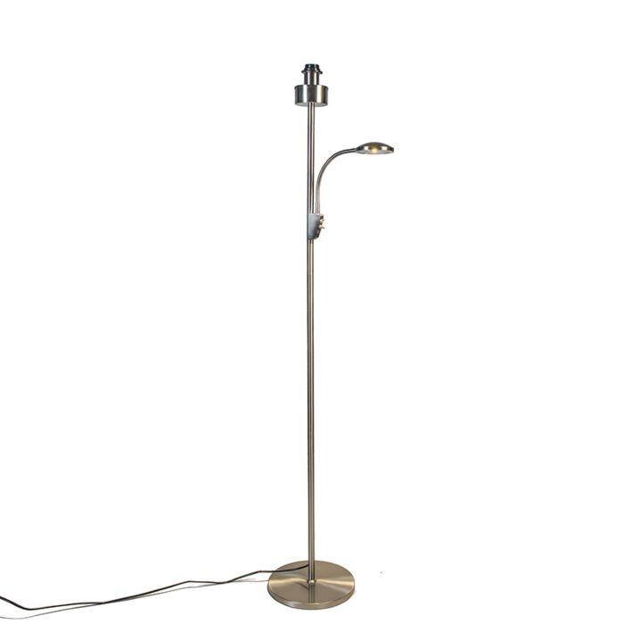 Vloerlamp-Trento-combi-staal-zonder-kap