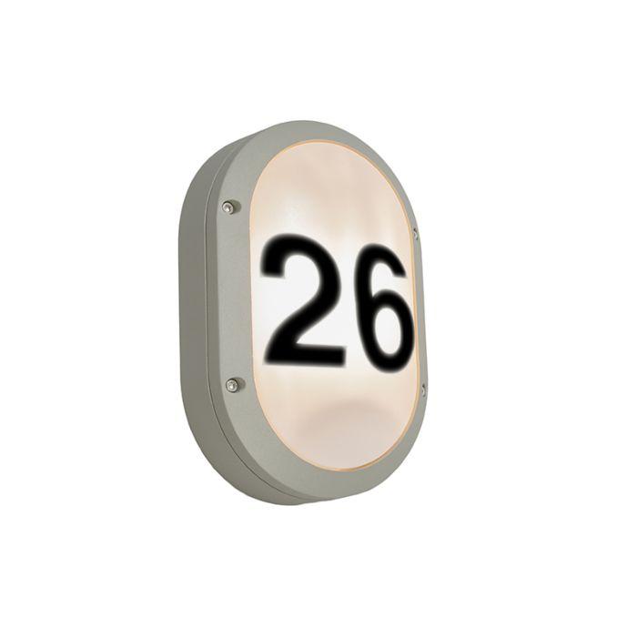 Buitenlamp-Glow-Ovaal-1V-met-huisnummer
