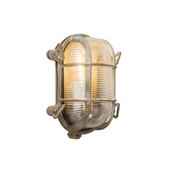Wand--en-plafondlamp-bruin-18/14-cm-IP44---Nautica-2-ovaal