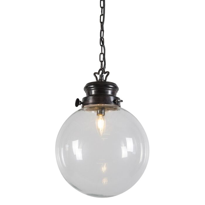 Hanglamp-Patina-roestkleur