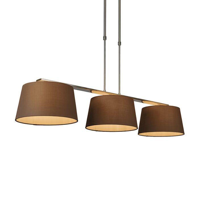 Hanglamp-Combi-Delux-3-kap-rond-30cm-bruin