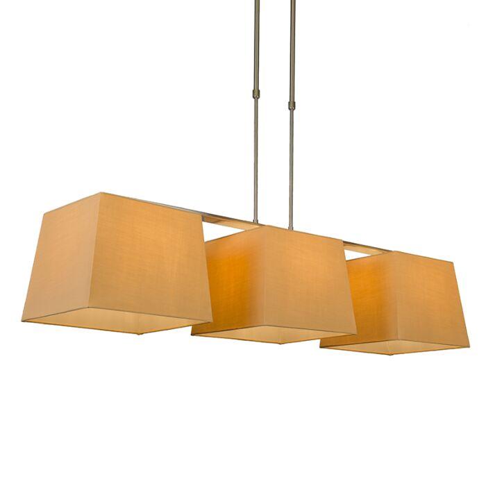 Hanglamp-Combi-Delux-3-kap-vierkant-30cm-beige