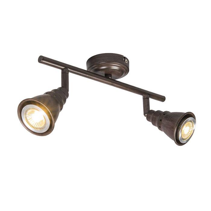 Plafond--en-wandspot-roestbruin-draai--en-kantelbaar---Coney-2