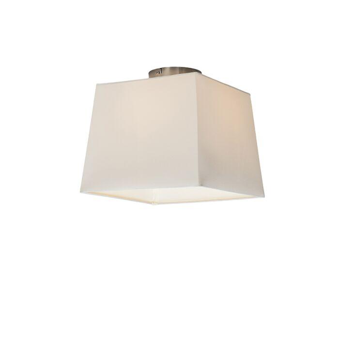 Plafonnière-Combi-30cm-vierkant-wit