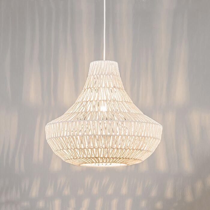 Retro-hanglamp-wit-50-cm---Lina-Cono-50