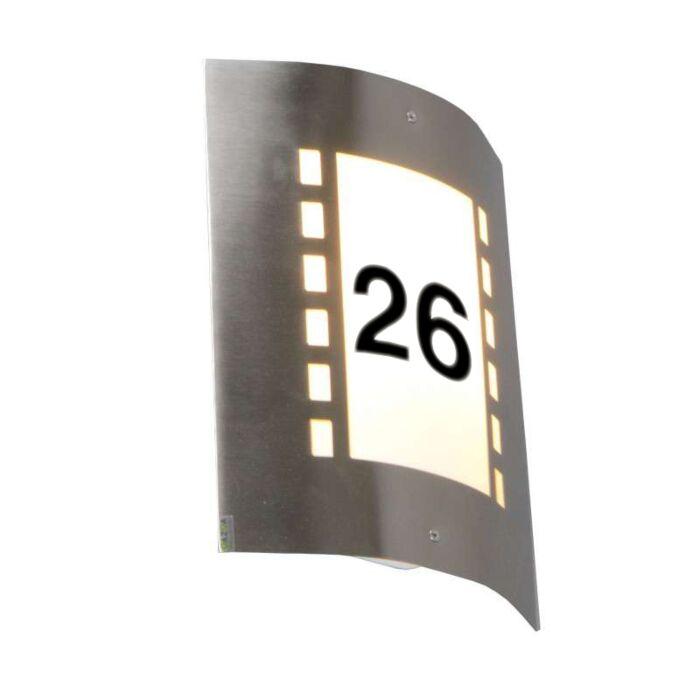 Buitenlamp-Emmerald-Lux-met-huisnummer