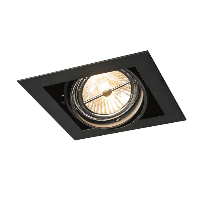 Inbouwspot-zwart-vierkant-verstelbaar-1-lichts---Oneon-111-1