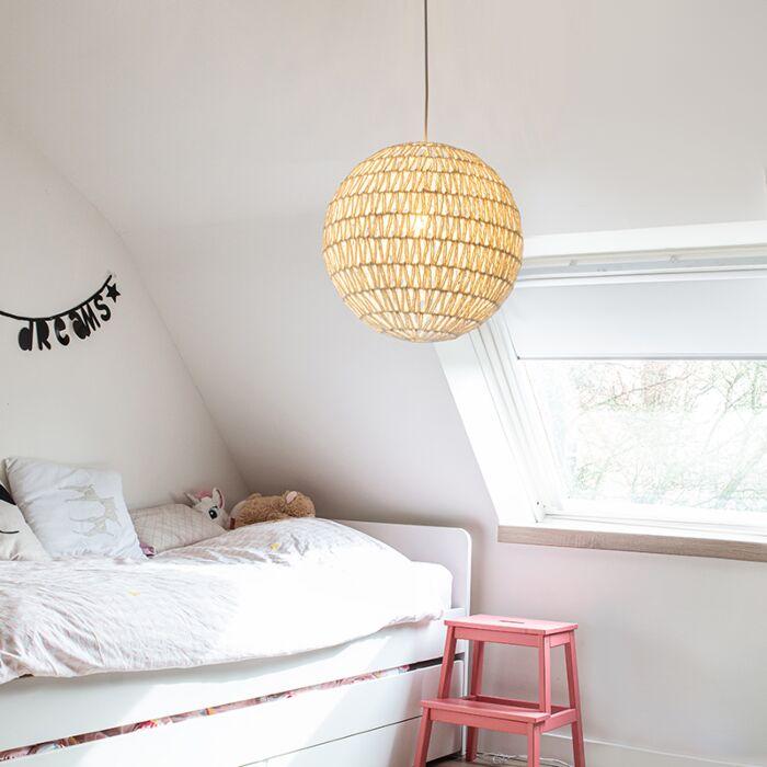 Retro-hanglamp-wit-60-cm---Lina-Ball-60