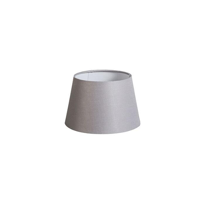 Kap-20cm-rond-DS-E27-linnen-lichtgrijs