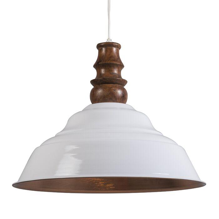 Hanglamp-Glam-wit-met-koper
