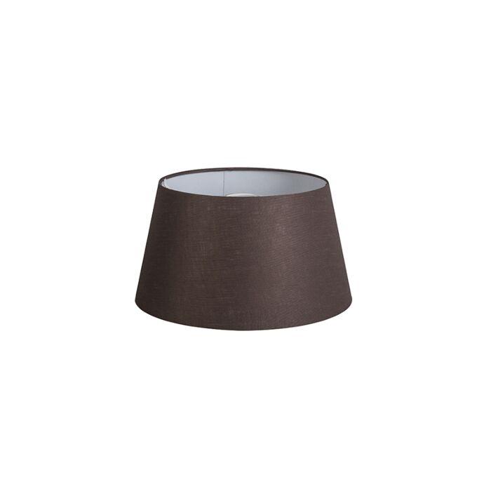 Kap-32cm-rond-DS-E27-linnen-bruin