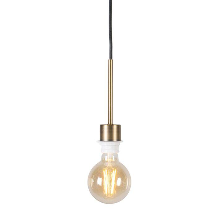 Moderne-hanglamp-brons-met-zwarte-kabel---Combi-1