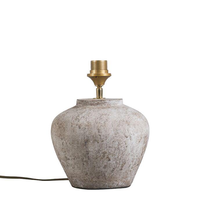 Klassieke-tafellamp-bruin-steen---Inca-XS-