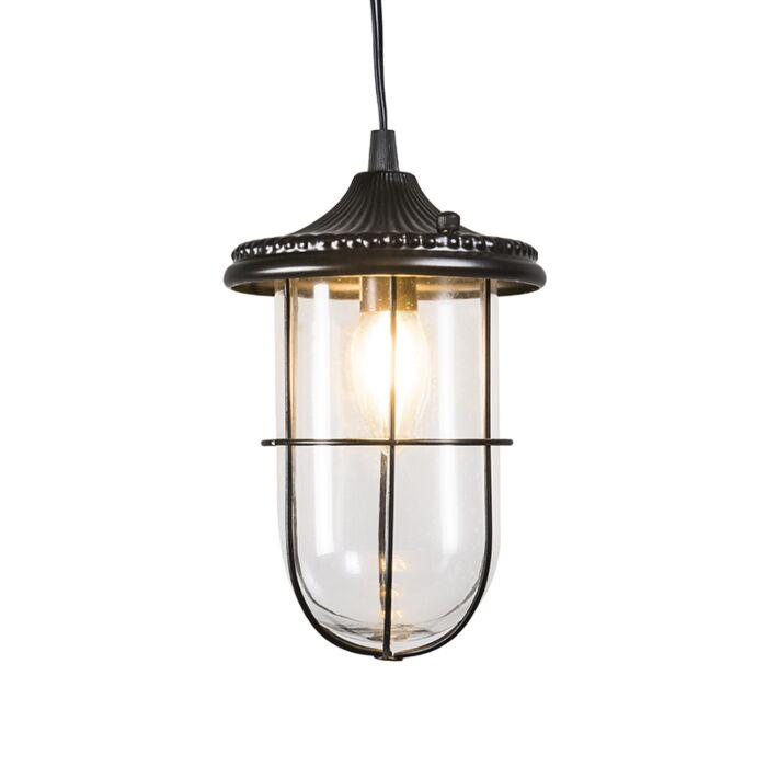 Vintage-hanglamp-zwart-met-glas---Porto