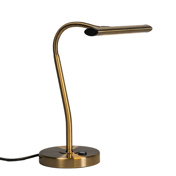 Art-Deco-tafellamp-brons-incl.-LED---Tableau