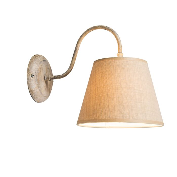 Wandlamp-Silea-Down-met-kap-taupe