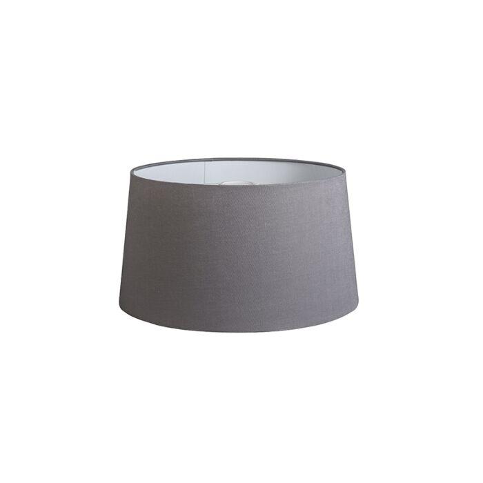 Kap-40cm-rond-DS-E27-linnen-donkergrijs