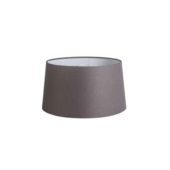Kap-40cm-rond-DS-E27-linnen-bruingrijs
