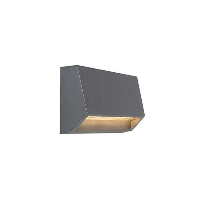 Moderne-buitenwandlamp-donkergrijs-incl.-LED-IP65---Sandstone-2