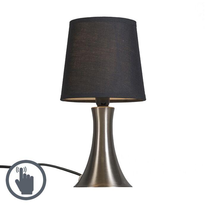 Tafellamp-Wink-zwart-Touch