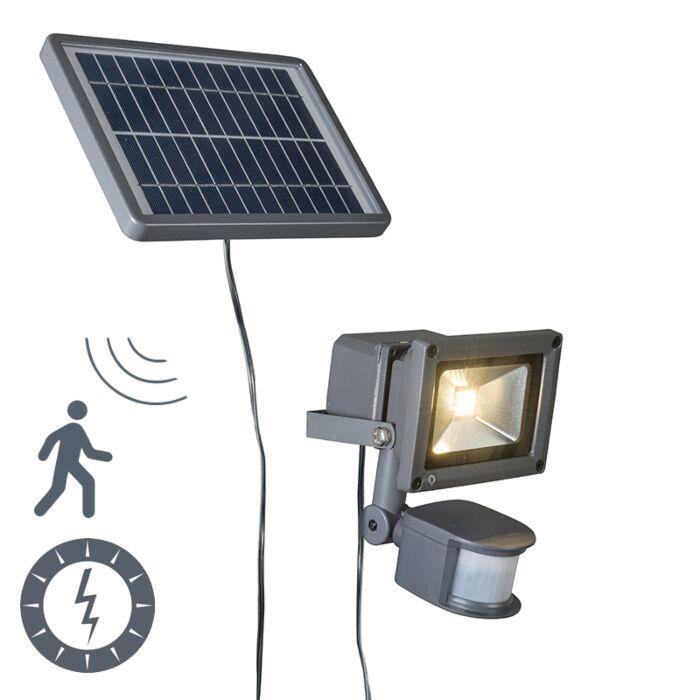 Solar-LED-straler-Strain-donkergrijs