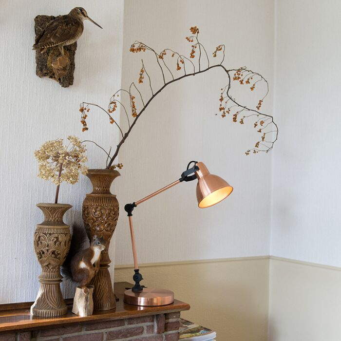 Tafellamp-Dazzle-koper