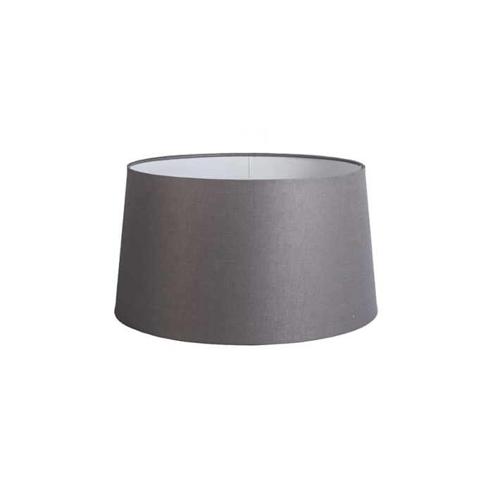 Linnen-lampenkap-donkergrijs-45-cm-