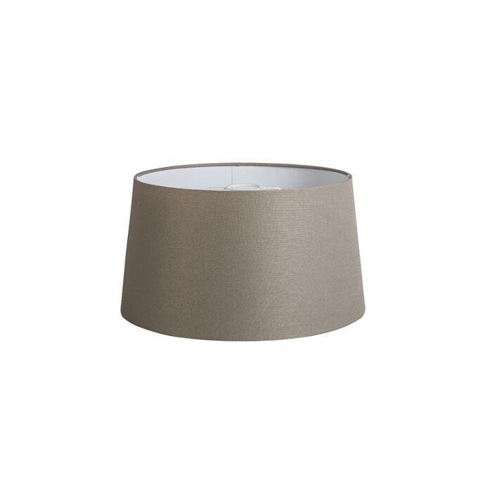 Kap-40cm-rond-DS-E27-linnen-taupe