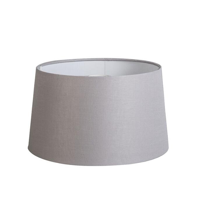 Kap-35cm-rond-DS-E27-linnen-lichtgrijs