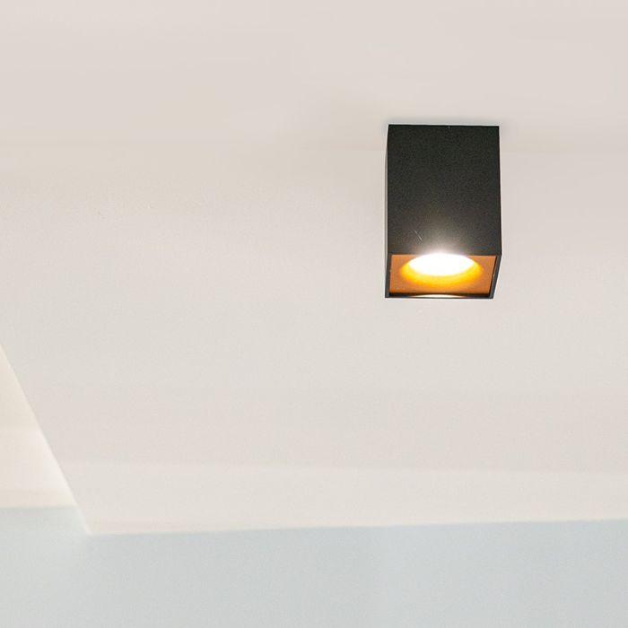 Moderne-spot-zwart-met-goud---Quba-delux