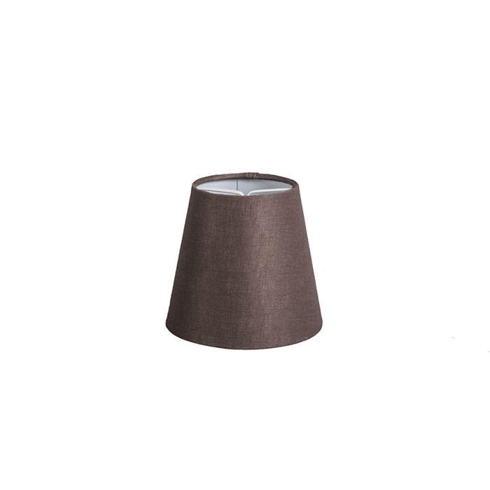 Linnen-klemkap-bruin-12-cm-rond
