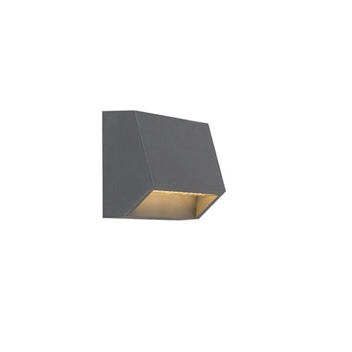 Moderne-buitenwandlamp-donkergrijs-incl.-LED-IP54---Sandstone-1