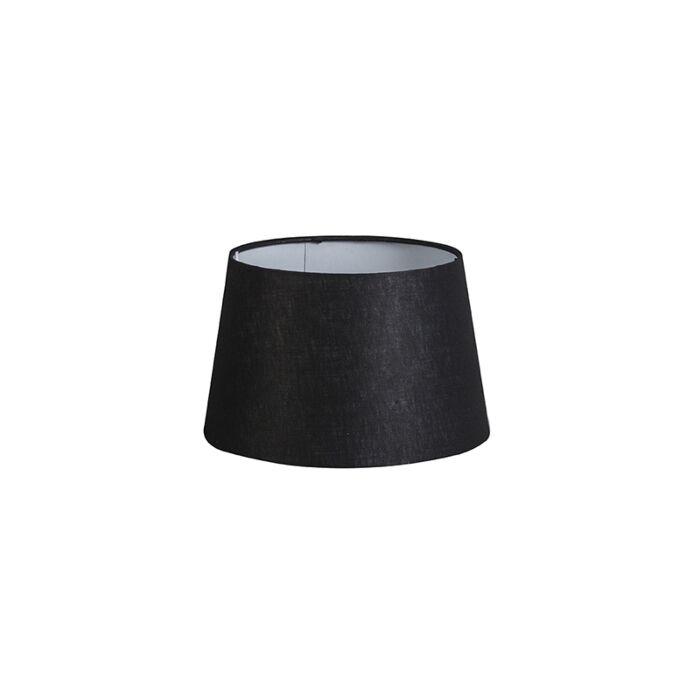 Linnen-lampenkap-zwart-25/16