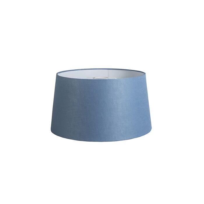 Kap-40cm-rond-DS-E27-linnen-blauw